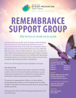 Suicide Remembrance Support Group Brochure