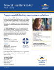 Mental Health First Aid-Youth Course Brochure